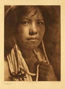 (Kayshaya) Pomo girl; c. 1924, by Edward S. Curtis