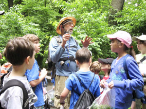 Brill leading a foraging class for kids.