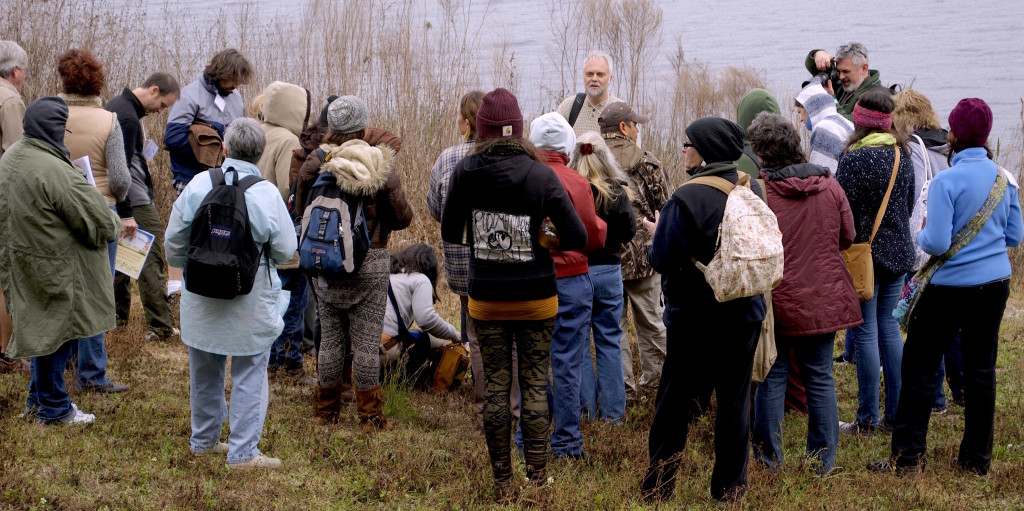Andy Firk, of Bamboon Grove, Arcadia, FL., lead an afternoon plant walk at the 2015 Florida Herbal COnference. Photo by Green Deane