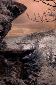 An Appalachian Trail view captured in infrared.Photo by Green Deane