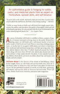 The back cover with stuff you want to know such as about the author and price.