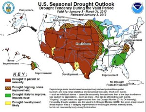 The U.S. drought persists.